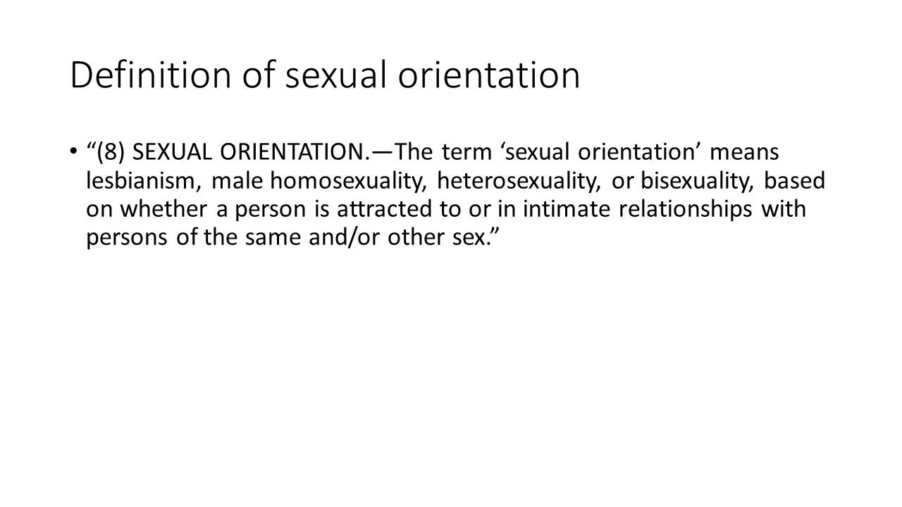 Definition of Sexual Orientation