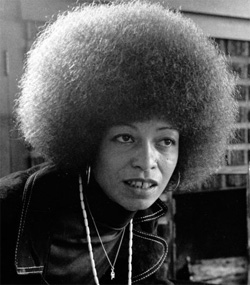 Angela Davis with afro