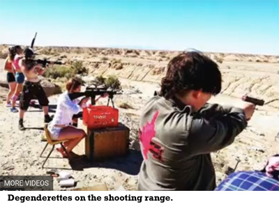 Degenderettes on the shooting range