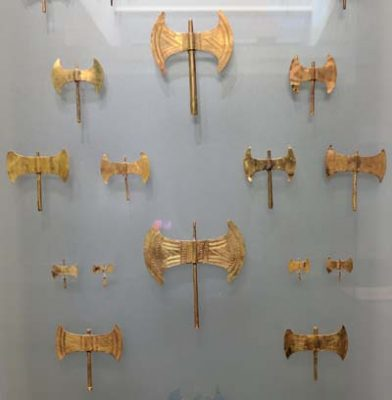 Gold Labrys Collection from Heraklion Museum, Crete, Greece