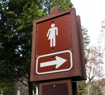 male-female symbol with arrow