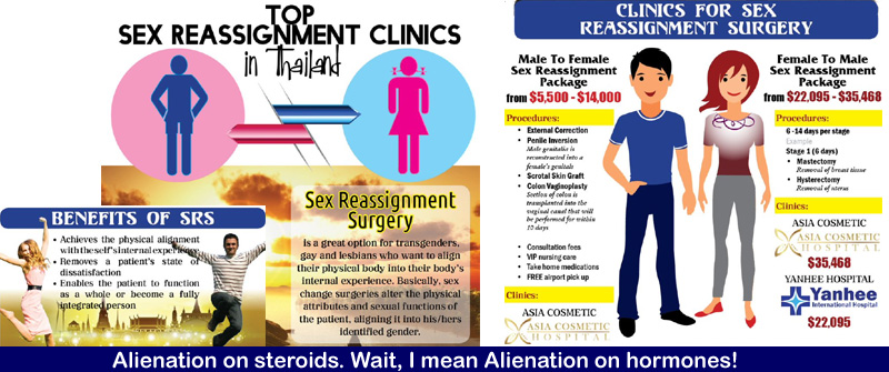 So-called sex reassignment clinics in Thailand