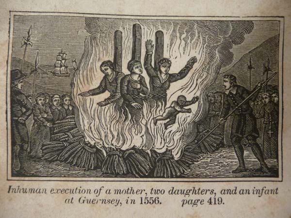 1556 burning of mother, 2 duaghters, and infant
